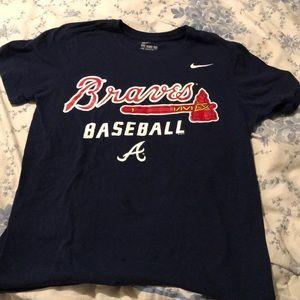 Nike shirt sleeve Braves tee